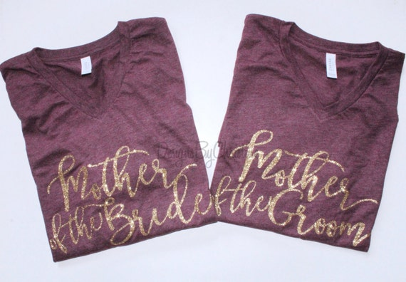 Mother or the Bride shirt. Mother of the groom shirt. Bridal party glitter shirts. Mom wedding shirts. Mom Unisex shirts