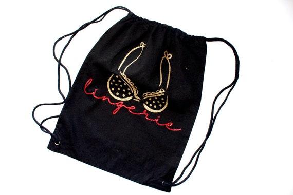 lingerie travel bag. lingerie bag. Bachelorette bag. bride gift. Bachelorette gift.lingerie tote. personalized bag.