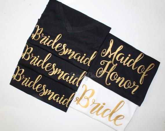 Bridesmaid shirt. Bridal Party Shirt. bridal party getting ready outfit, bridesmaid proposal, bridesmaid gift, bachelorette shirt