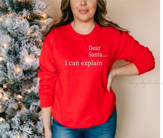 Christmas sweater   Dear Santa sweater   ugly Christmas sweater   Cute ugly Christmas sweater   red Christmas sweater   Holiday sweater