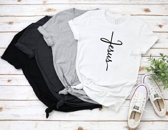 Jesus shirt | Vertical Cross Shirt | Christian Shirt | Vertical Cross | Jesus Cross | Religious Shirt | Church | Disciple | faith