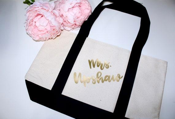 Custom Tote Bag, Bride Tote, Mrs tote, tote bag. personalized tote. custom tote bag