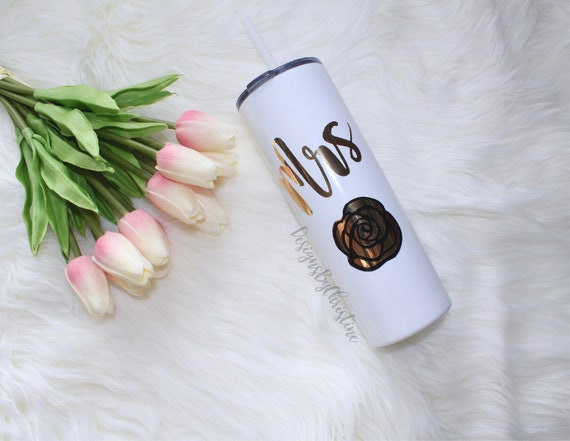 Personalized Tumbler, Stainless Steel Skinny Tumbler, Wedding Tumbler, Personalized Gift, Bridesmaid Gift, Bridal Party,Bachelorette party