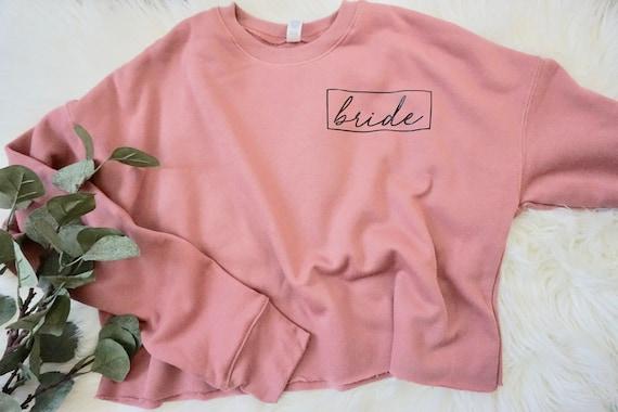 Bride Crop sweater | bride pullover sweater | bride sweatshirt | wifey sweater |  bride sweater | honeymoon sweater | bride to be sweater