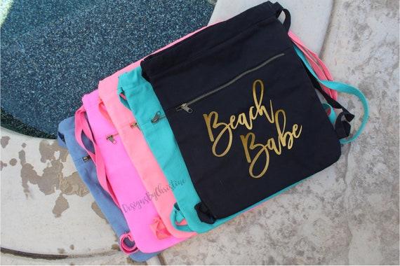 Bachelorette backpack. Bachelorette bag. Beach Babe bag. Beach bag. Beach tote. Summer bag. Summer tote. Bride Bag. Vacation tote bag