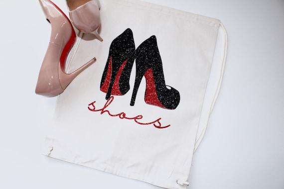 Shoes travel bag. Bachelorette bag. shoe storage. bride gift. Bachelorette gift. shoe bag