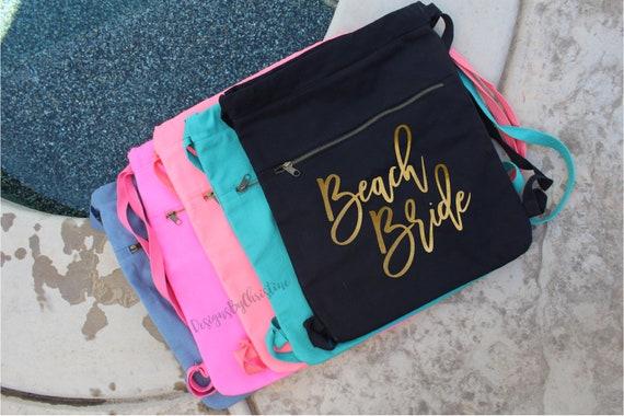 Bachelorette backpack. Bachelorette bag. Beach Babe bag. Beach bride. Beach bag. Summer bag. Summer tote. Bride Bag. Vacation tote bag