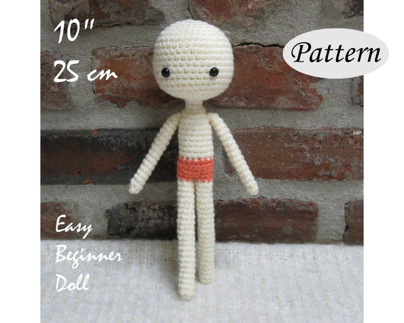 BASIC Amigurumi Body  Amigurumi Pattern Crochet Doll Pattern image 0