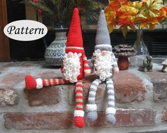 PATTERN Gnome - Imp - Christmas Doll - Amigurumi - Crochet - Photo Tutorial - PDF