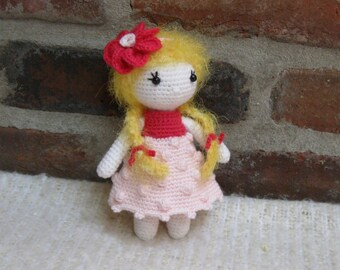 Little Cutie IVY - Amigurumi Doll Crochet Doll finished - Plush Doll Girl