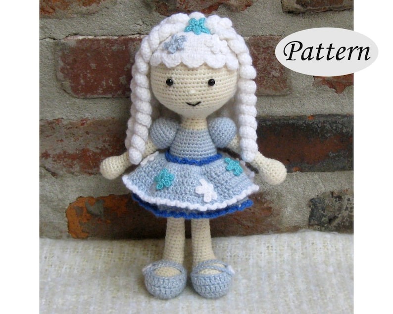 SNOWFLAKE Winter Girl  Amigurumi Pattern Crochet Doll Pattern image 0