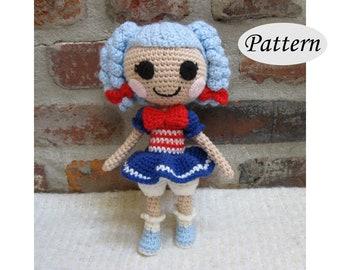 PATTERN - Lalaloopsy Marina - Amigurumi - Crochet Doll - Photo Tutorial - PDF
