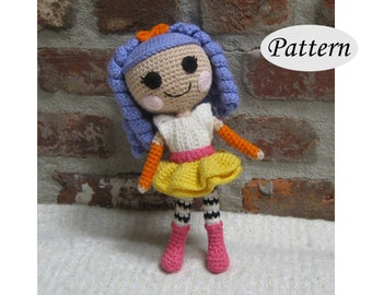 PATTERN - Lalaloopsy Peanut- Amigurumi - Crochet Doll - Photo Tutorial - PDF