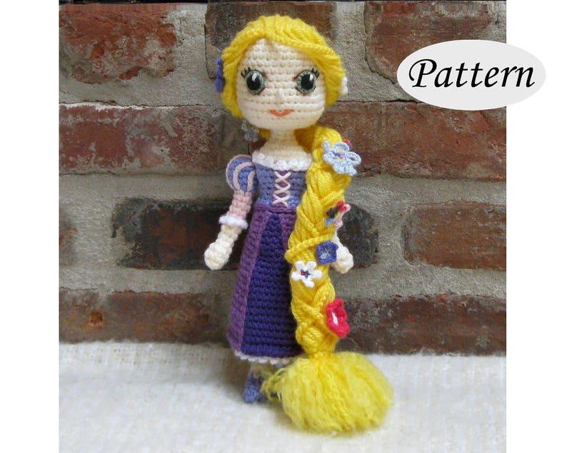 RAPUNZEL  Amigurumi Pattern Crochet Doll Pattern Amigurumi image 0