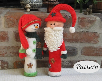 PATTERN Santa Claus and Wife - Dolls - Amigurumi - Crochet - Photo Tutorial - PDF