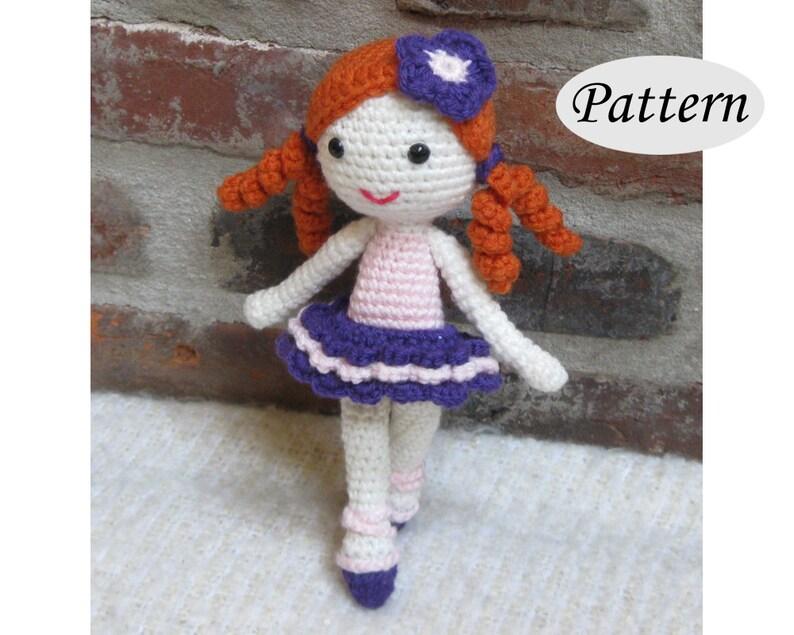 LITTLE BALLERINA  Amigurumi Pattern Crochet Doll Pattern  image 0