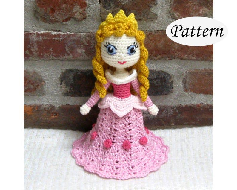AURORA Sleeping Beauty  Amigurumi Pattern Crochet Doll image 0