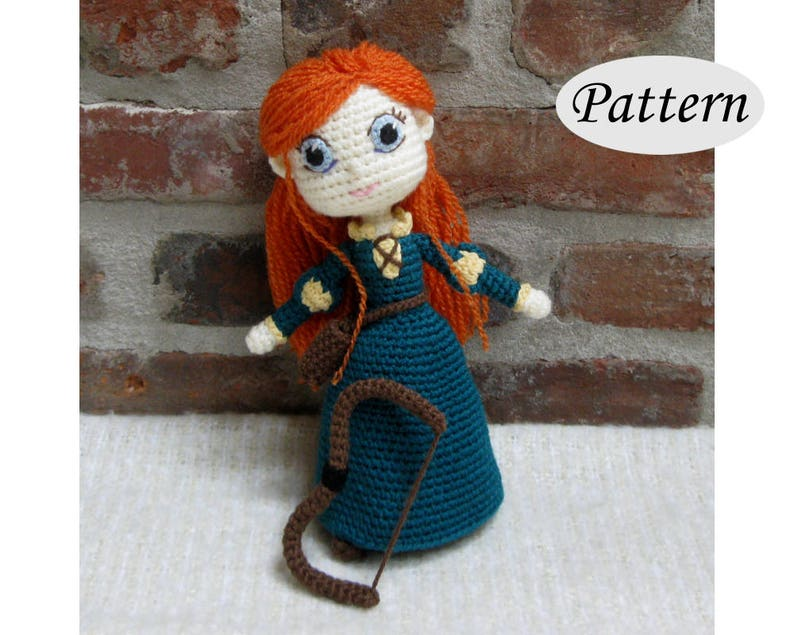 MERIDA  Amigurumi Pattern Crochet Doll Pattern Amigurumi image 0