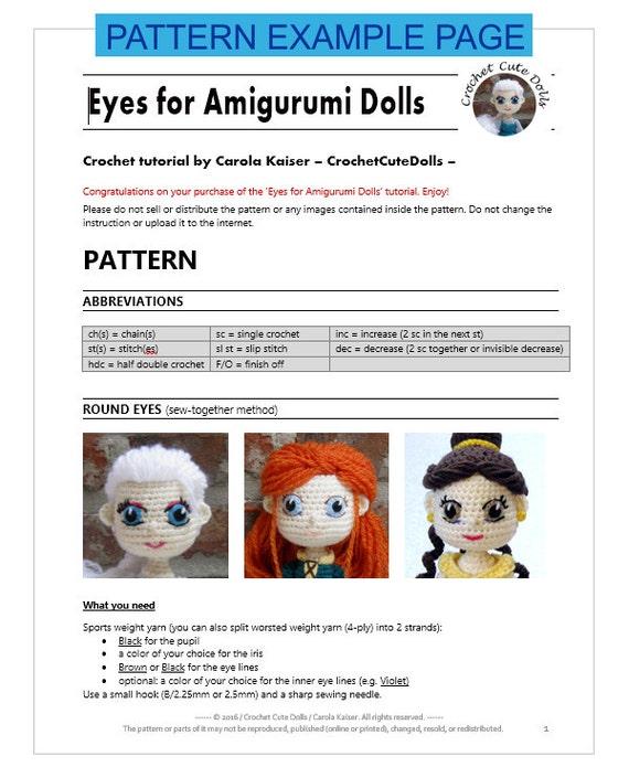 Cute Doll Eyes Crochet Tutorial - YouTube | 695x570