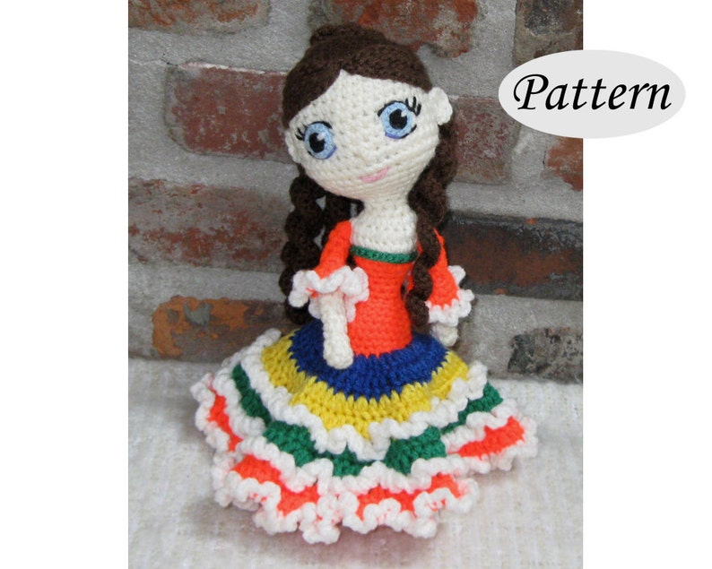 AMELIE  Amigurumi Pattern Crochet Doll Pattern Amigurumi image 0