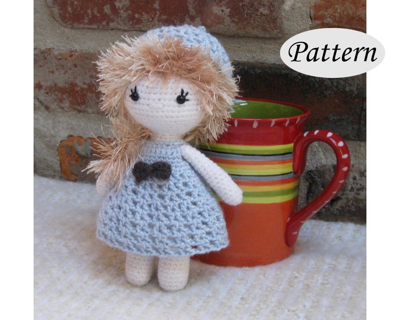 Little Cutie AMY  Amigurumi Pattern Crochet Doll Pattern  image 0