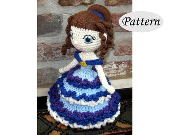 ELIZA - Amigurumi Pattern Crochet Doll Pattern Amigurumi Princess Pattern - Tutorial - PDF - Plush Doll Girl