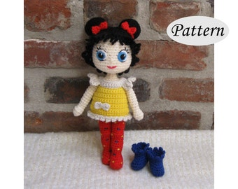 DOTTIE - Amigurumi Pattern Crochet Doll Pattern - Tutorial - PDF - Plush Doll Girl
