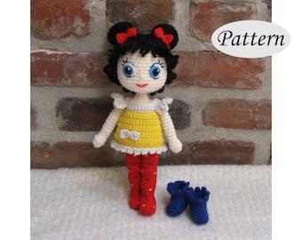 DOTTIE - Amigurumi Pattern Crochet Doll Pattern - Tutorial - PDF - Plush Doll Girl