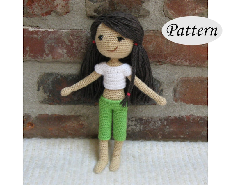 SUMMER GIRL  Amigurumi Pattern Crochet Doll Pattern  Photo image 0
