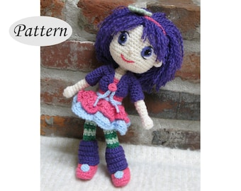 PLUM PUDDING - Strawberry Shortcake - Amigurumi Pattern Crochet Doll Pattern - Tutorial - PDF - Plush Doll Girl