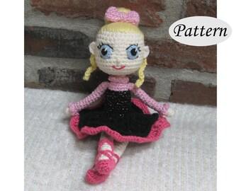 BALLERINA - Amigurumi Pattern Crochet Doll Pattern - Ballet Dancing - Photo Tutorial - PDF - Plush Doll Girl