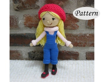 WINTER GIRL - Amigurumi Pattern Crochet Doll Pattern - Tutorial - PDF - Plush Doll Girl