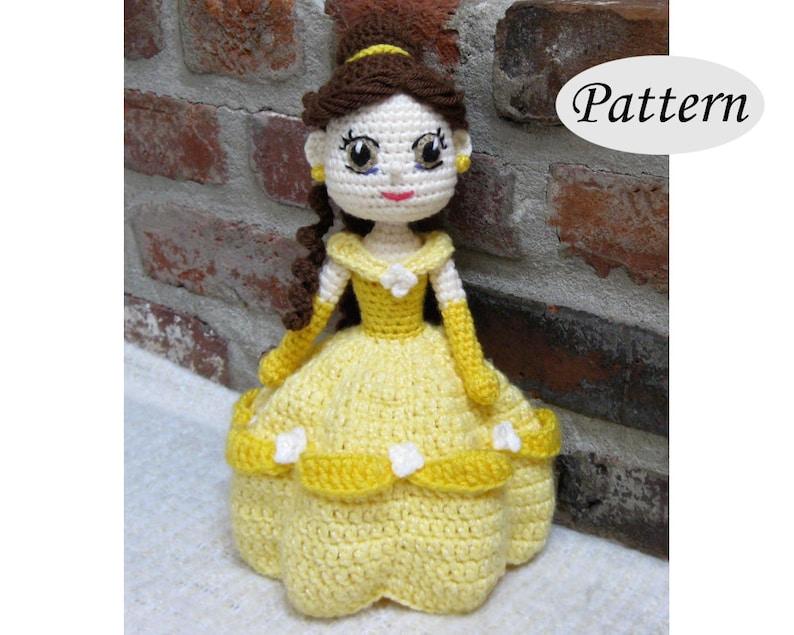 BELLE  Amigurumi Pattern Crochet Doll Pattern Amigurumi image 0