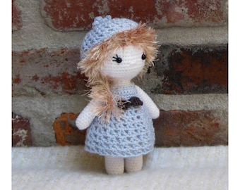 Little Cutie AMY - Amigurumi Doll Crochet Doll finished - Plush Doll Girl