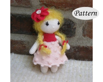 Little Cutie IVY - Amigurumi Pattern Crochet Doll Pattern - Tutorial - PDF - Plush Doll Girl