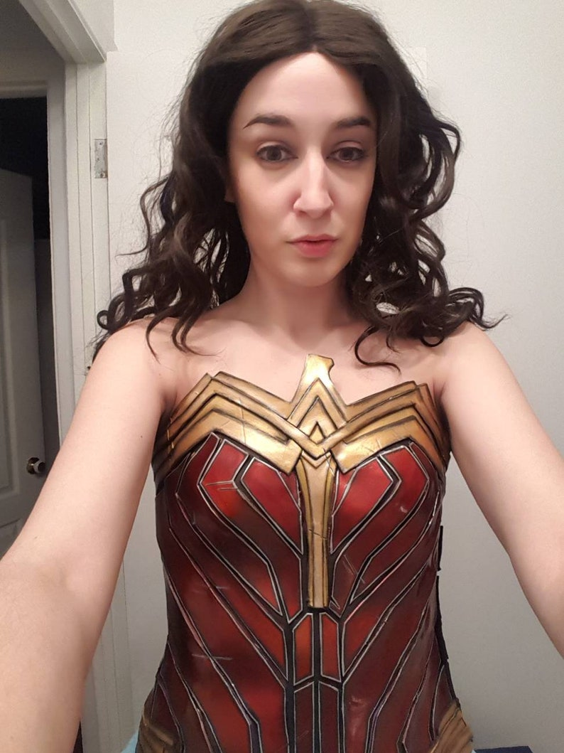 7e14d52440 Wonder woman Gal Gadot movie corset for cosplay costume LOWER