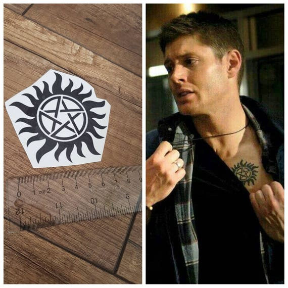 Supernatural Dean Sam Winchester Brother Temporary Tattoo Etsy