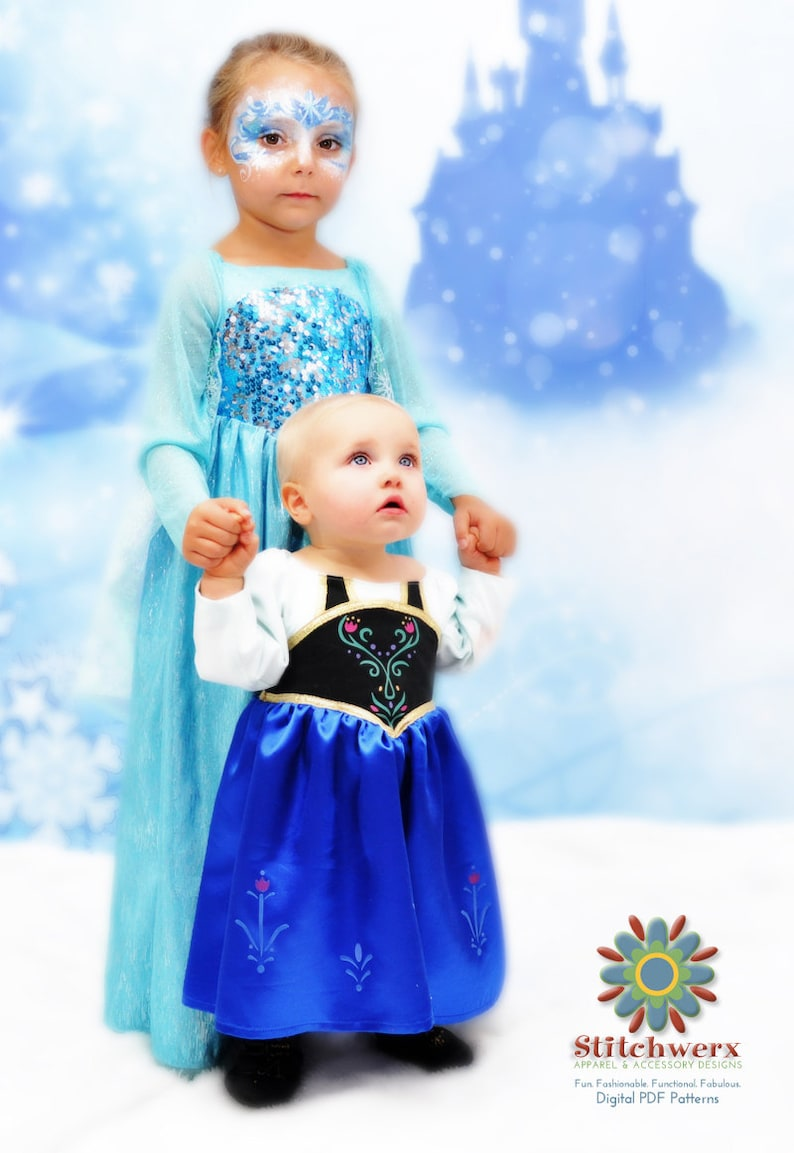 Frozen Inspired Princess Party Dress PDF Sewing Pattern for image 0