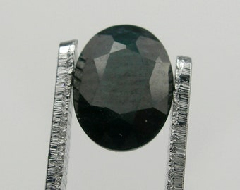 Weight 0.86 carats Rare Size Brilliant Cut 6.10mm Round Black-Blue Colour Natural Australian Sapphire Loose Gemstone