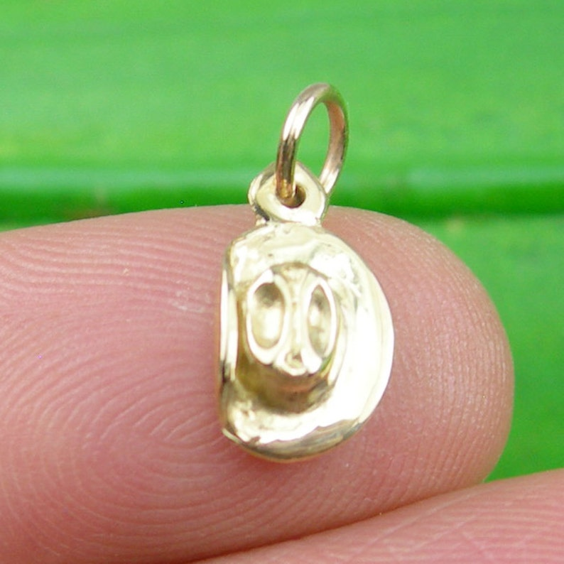 Genuine 375 9CT 9K Yellow Gold Small 3 Dimensional Slouch Hat Australian Digger Army Soldier Hat Charm C2090