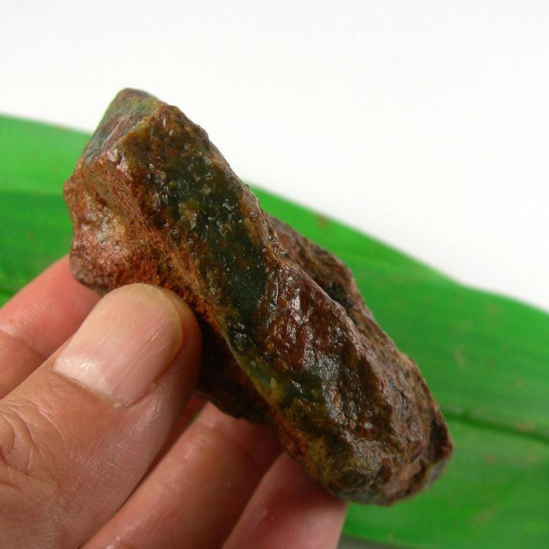 Untreated Dark Green Colour Natural Australian Chrysoprase Rough Gemstone Rock Weight 113grams ACR59