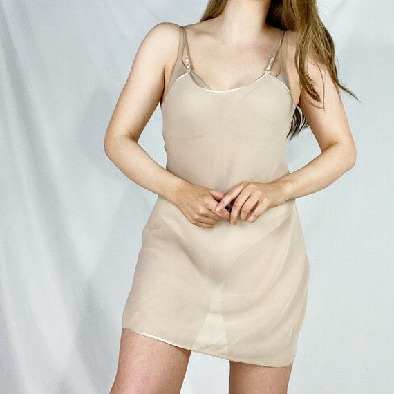 90s Sheer Slip Small Medium See Through Slip Dress