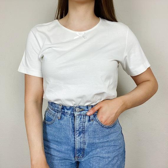 Vintage 1990s BP Basic White T-Shirt Women's Mediu