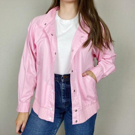 Vintage 1990s Koret Pink Coach Jacket Women's Medi