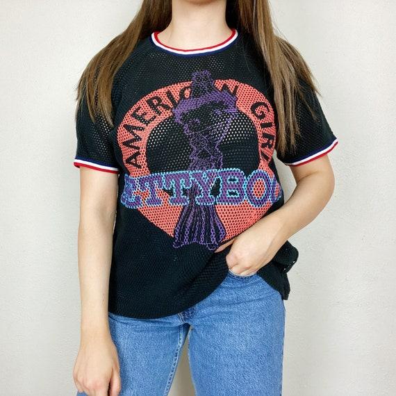 Vintage 1990s Betty Boop American Girl Black Mesh