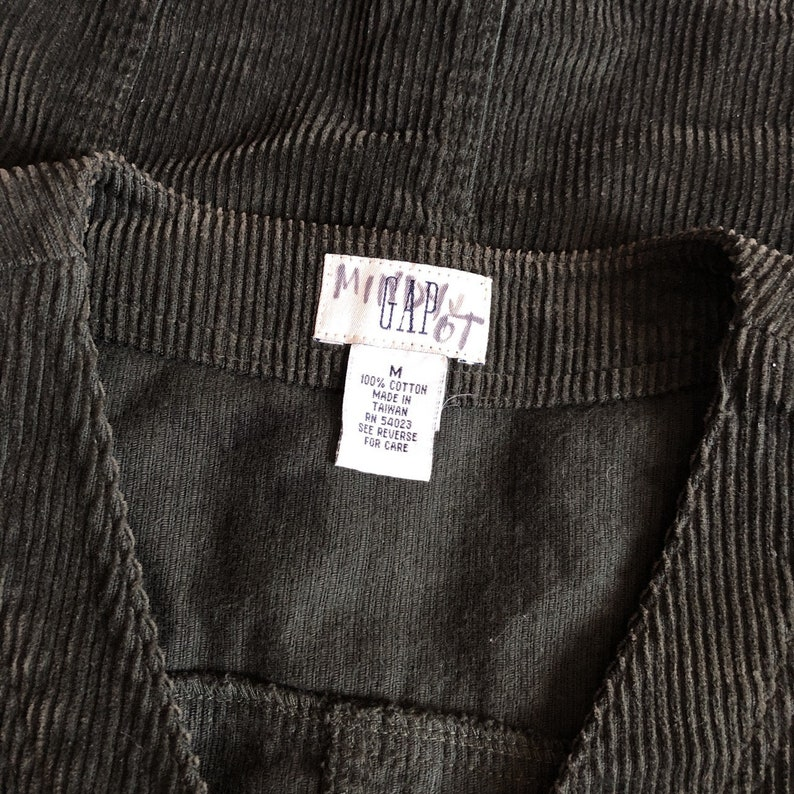 Vintage 1990s Gap Brown Corduroy Vest Women/'s Medium