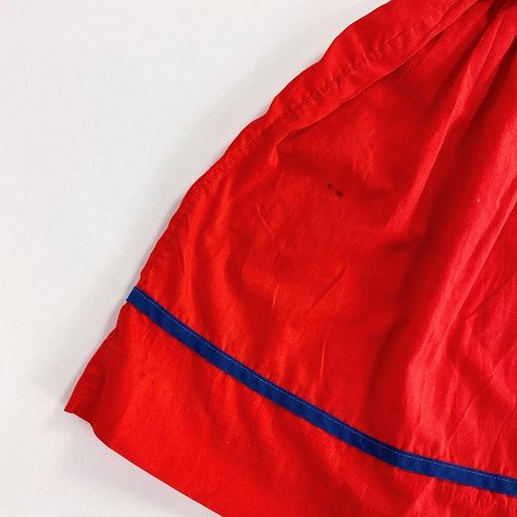 70s Nanette Too Dress 4T EASTER Girls Red Sailor … - image 5