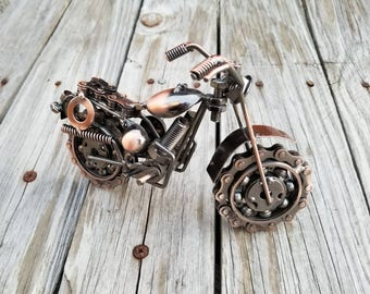 Motorcycle Harley Gifts For Him Dirtbike Gift Upcycled Art Biker SturgisMC