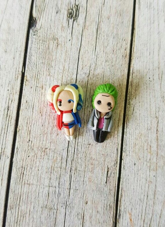 Aretes de Harley Quinn. | Etsy