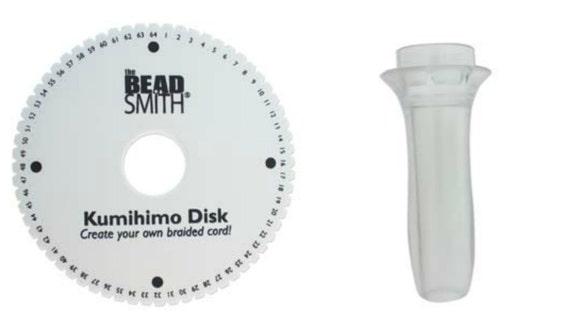 Beadsmith Kumihimo Handle Clear Plastic